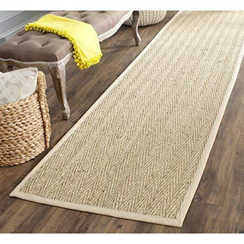 seagrass carpets safavieh natural fiber collection nf115a herringbone natural and beige  seagrass runner (2u00276 HPFOMQN