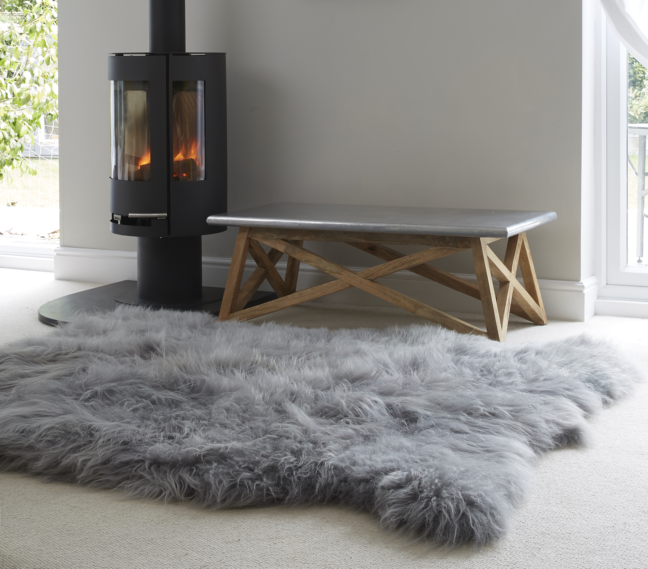 Sheepkin rugs huge icelandic grey sheepskin rug VCQEJMF