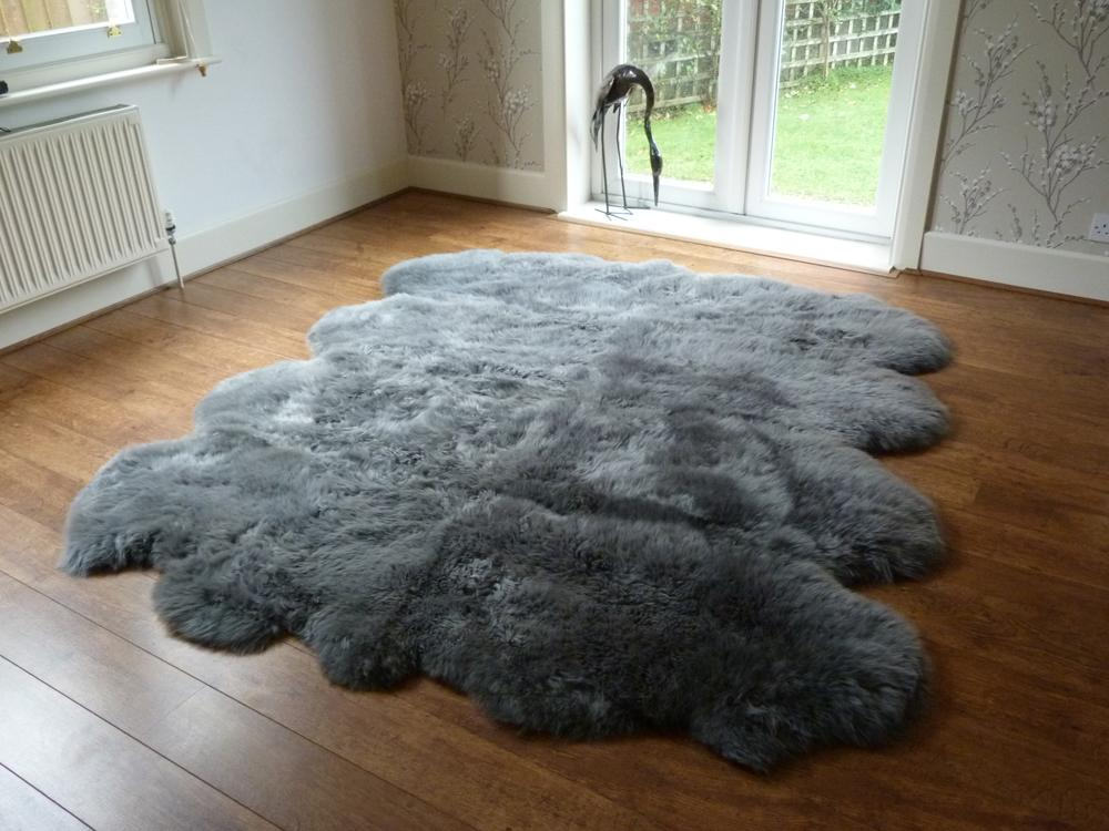 Sheepkin rugs sheepskin rug octo grey | large sheepskin rugs - hiderugs DEXCZYY