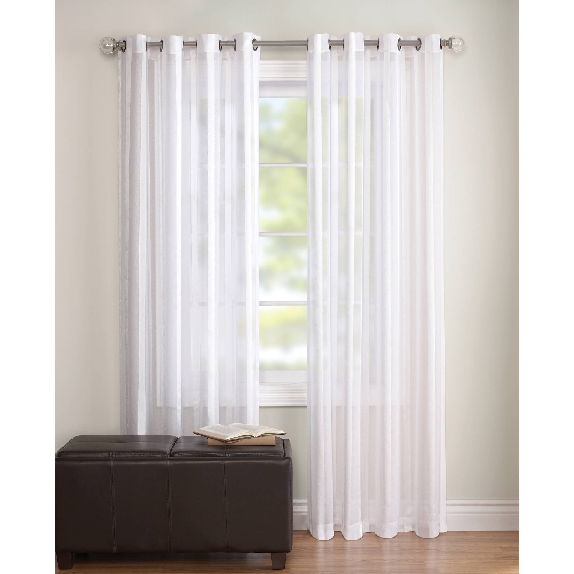 Sheer Curtain better homes and gardens embroidered sheer curtain panel - walmart.com HCXLRUU