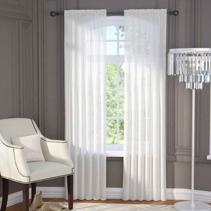 Sheer Curtain brushgrove solid sheer curtain panels UVFJQCK