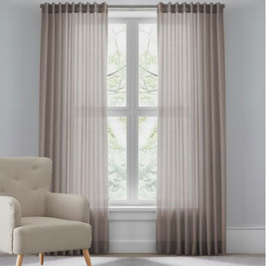 Sheer Curtain sheer curtains | brown sheer curtains | quickfit curtains YBKELWM