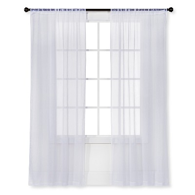 Sheer Curtain snow white sheer curtain panel crinkle - room essentials™ : target TAWPRJA