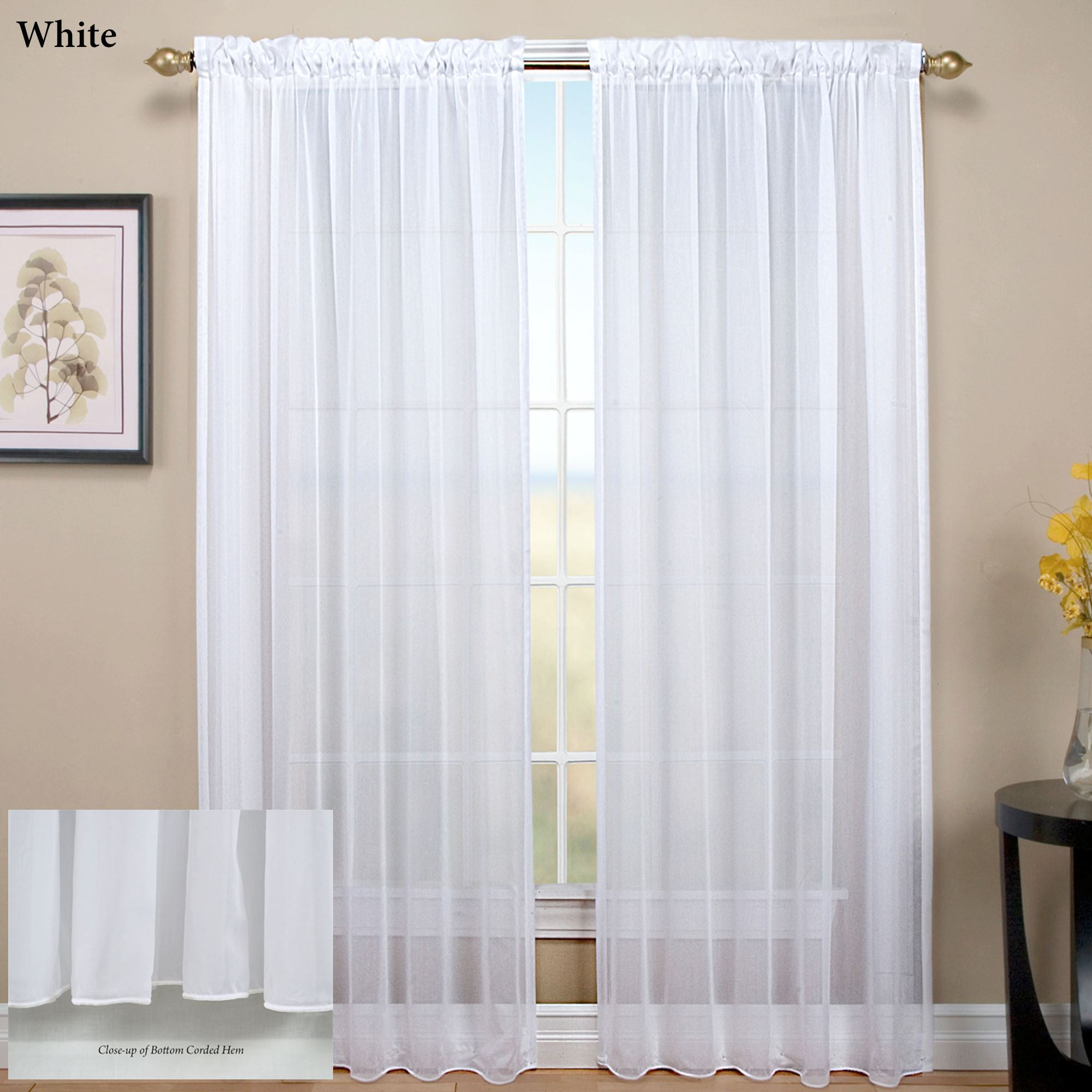 Sheer Curtain tergaline sheer curtain panel BLUQXBR