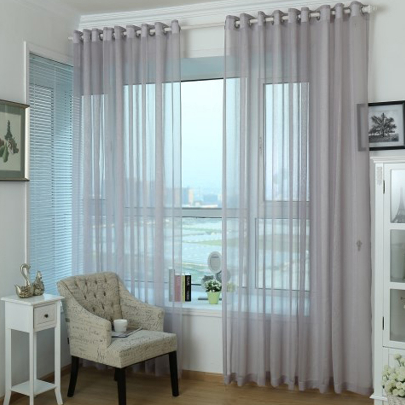 Sheer Curtain unique and simple home grey purple sheer curtain TBWFVMK