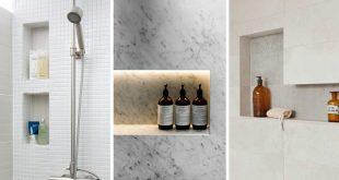 shower shelves 12 ideas for including built-in shelving in your shower KAUVRZO