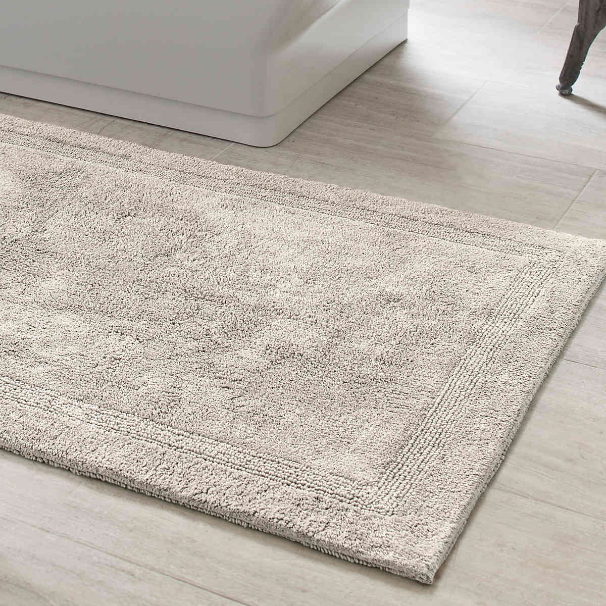 signature dove grey bath rug | pine cone hill NBIJCXA