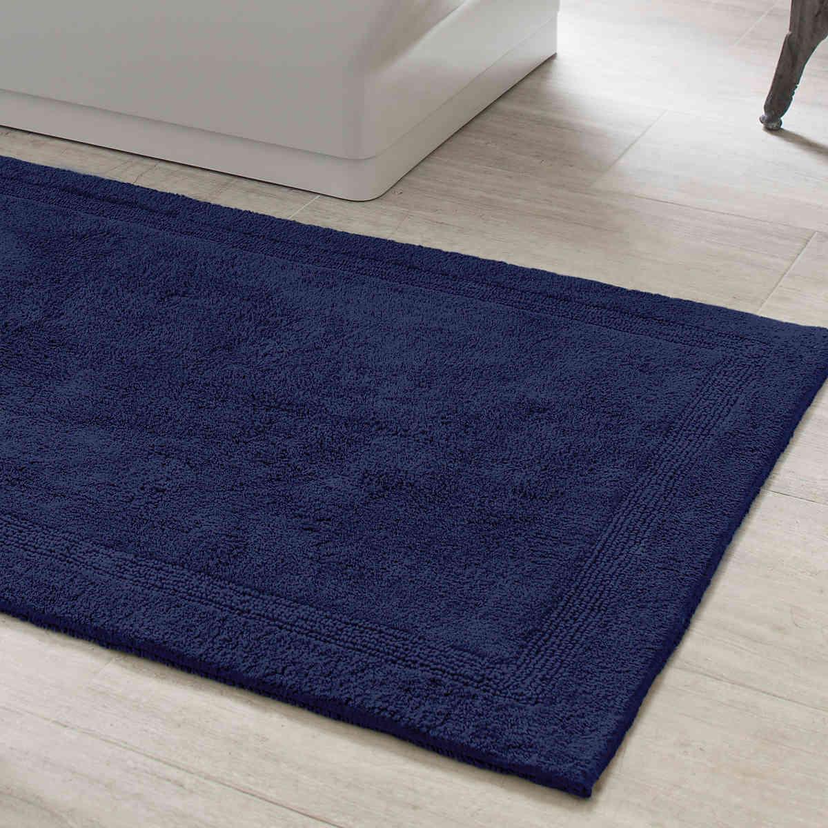 signature indigo bath rug | pine cone hill VVWIZFC