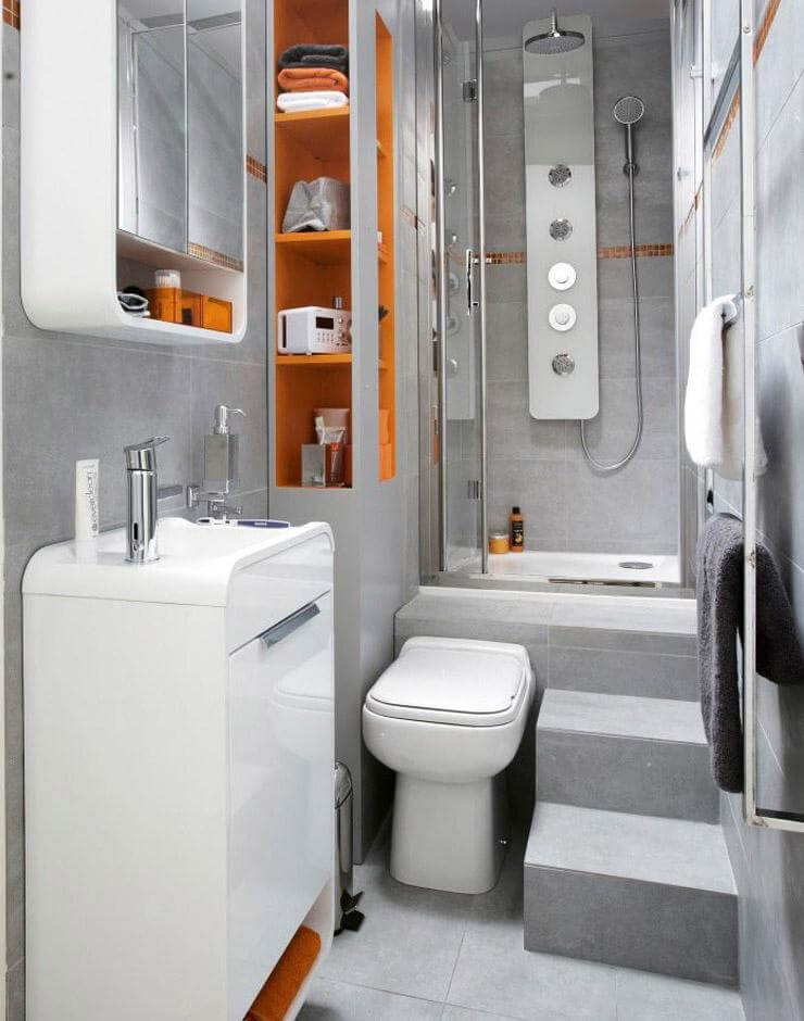 small bathroom design 32. curved edges and creative toilet placement RGUDDPE