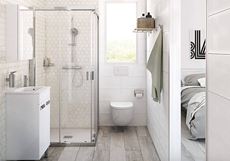 small bathroom design 4. add a seamless glass shower door to your small bathroom FFRKFZY