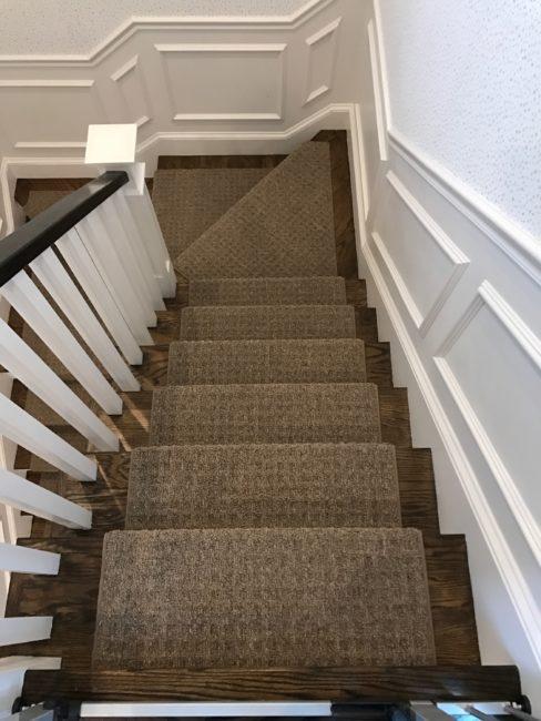 stair carpet prestige mills, cliffside, indigo EMSYVEZ