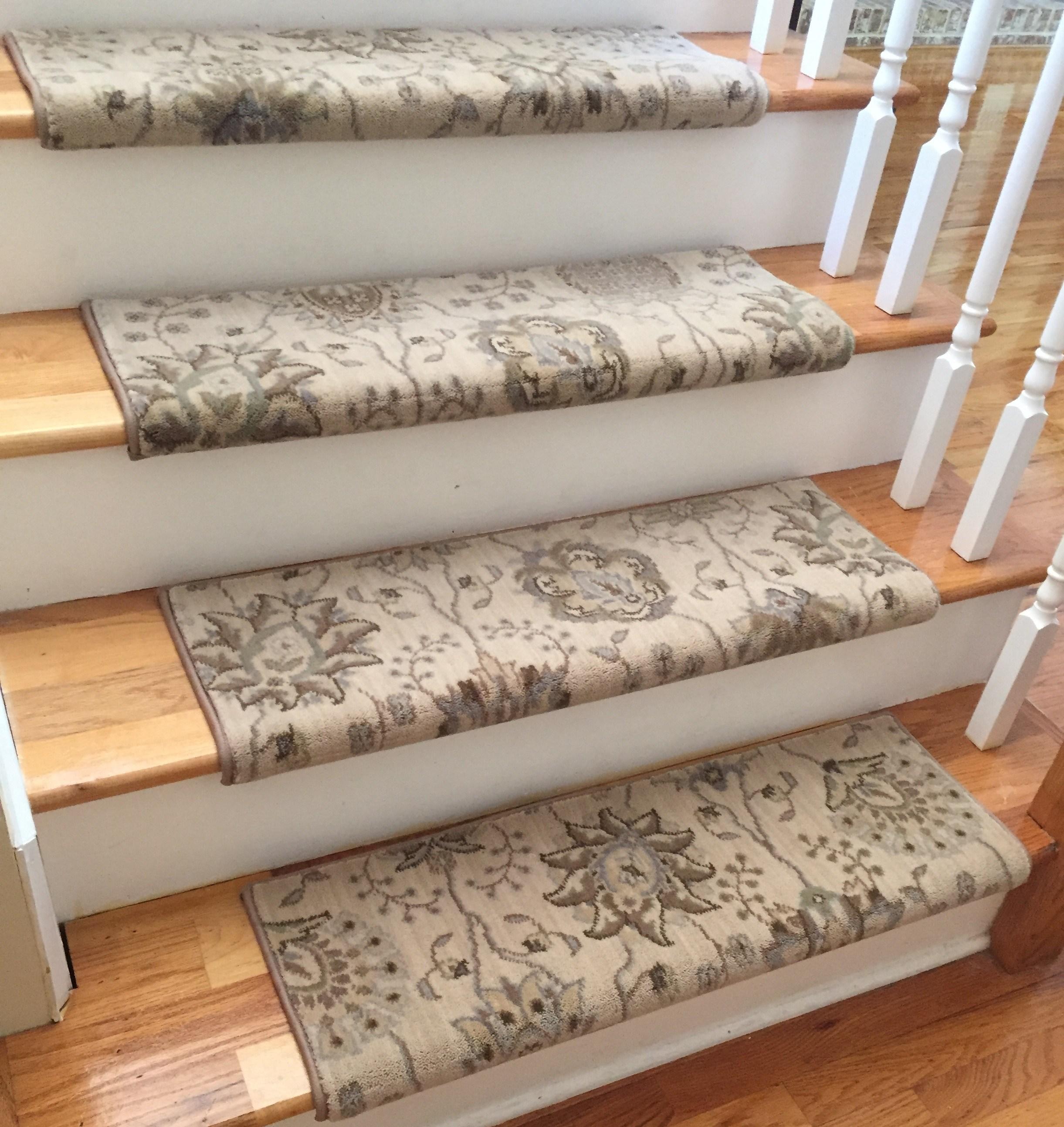 stair carpet satin cream custom wool true bullnose™ carpet stair tread new zealand wool FVARGLE