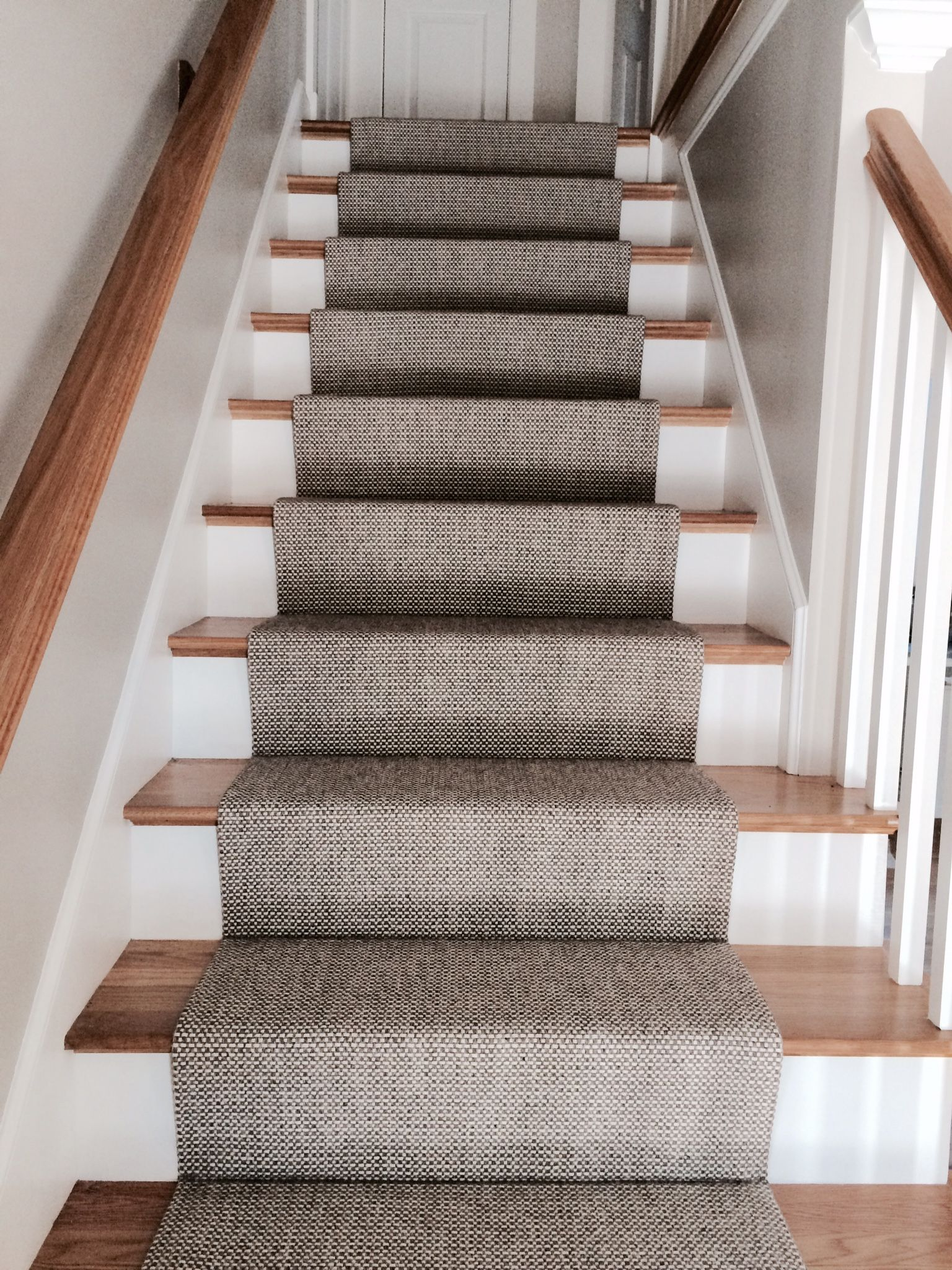 stair runners woven wool stair runner that we fabricated using a fold and stitch method BYMCPDF