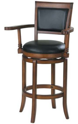 Swivel Bar Stools With Arms acme 07031 swivel barstool w/armrest WJYXMRG