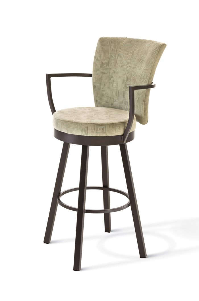 Swivel Bar Stools With Arms amisco cardin swivel stool with arms and back amiscou0027s cardin swivel  barstool AZIOWKW