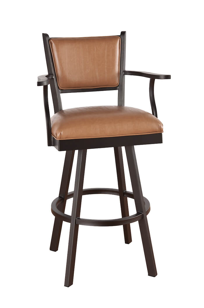 Swivel Bar Stools With Arms callee carolina swivel bar stool with arms ... TXUJNNY