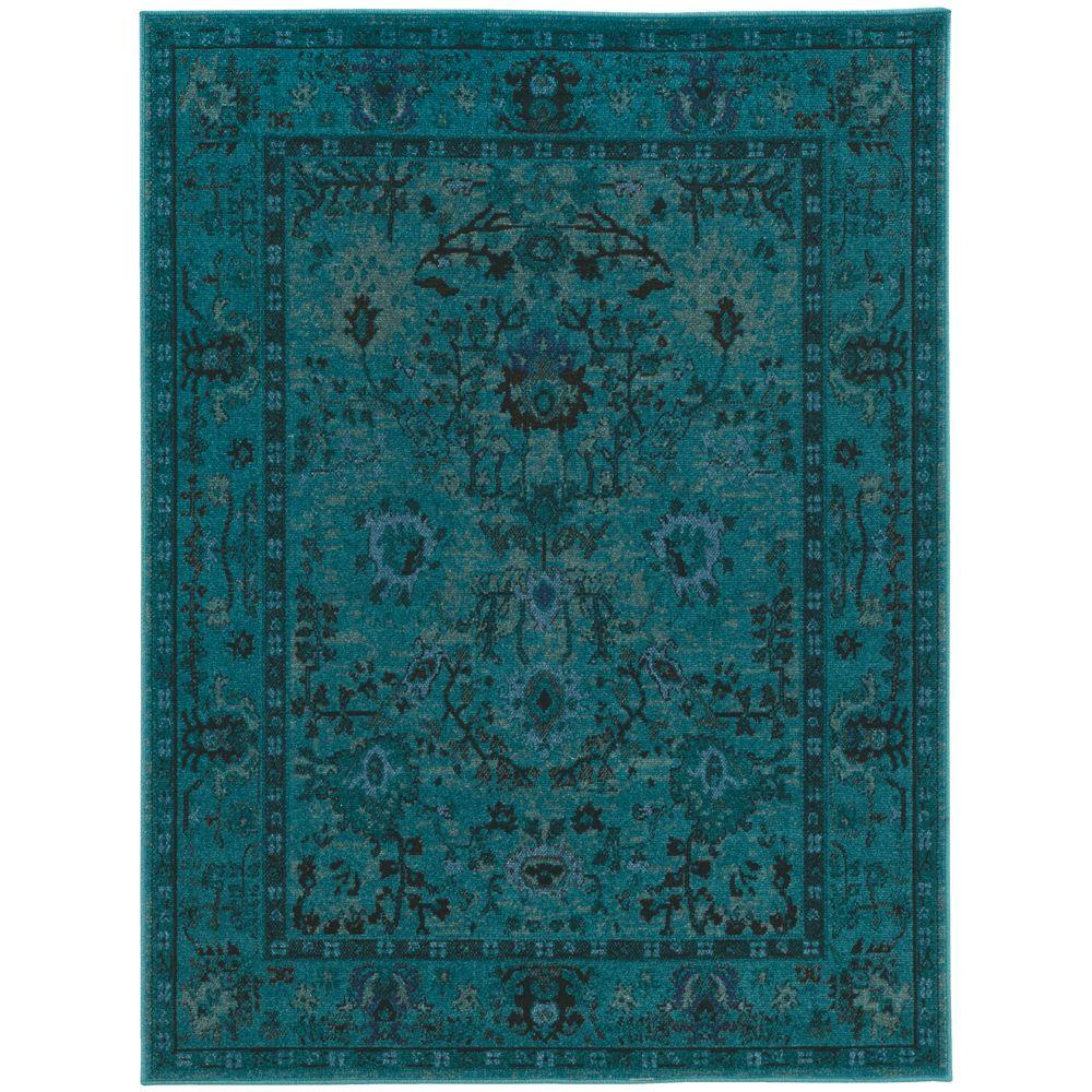 teal area rug home decorators collection overdye teal 10 ft. x 12 ft. area rug IPWMQKR