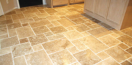 travertine flooring in a kitchen NBEKYAD