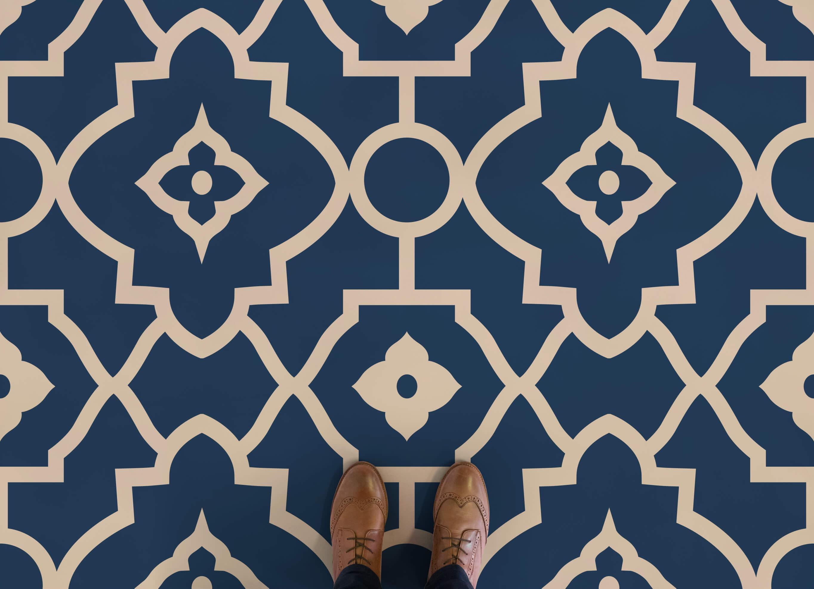 vinyl flooring morocco-moroccan-style-vinyl-flooring-blue-feet-vinyl- FDKGNOX