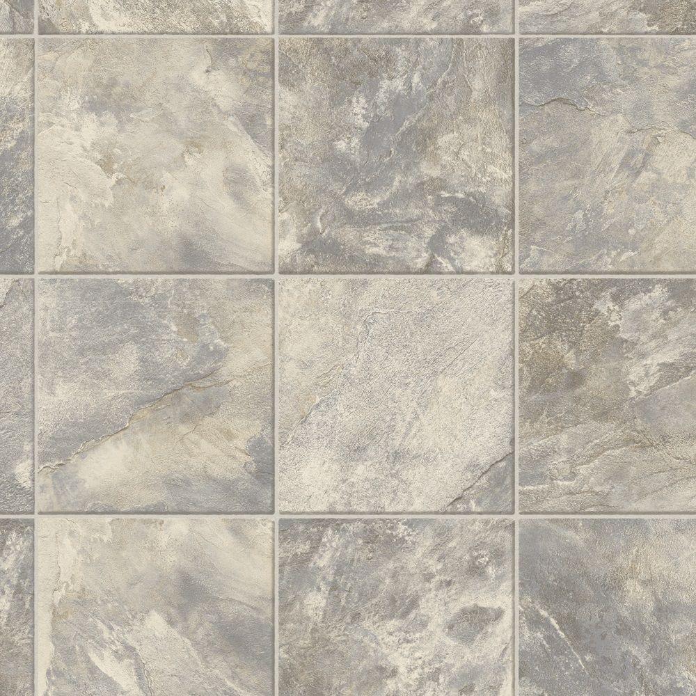 vinyl sheet flooring trafficmaster neutral square slate 12 ft. wide x your choice length vinyl TEVKSLB