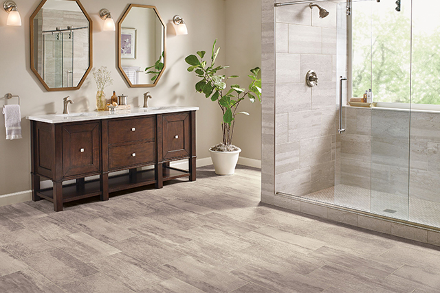 vinyl sheet flooring vinyl sheet in a bathroom - citadel rock - solar morning - b6325 JQEISNT