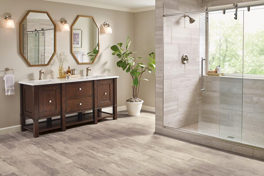 vinyl tile flooring bathroom bathroom flooring in vinyl sheet - b6325 duality premium collection VXLEUMD