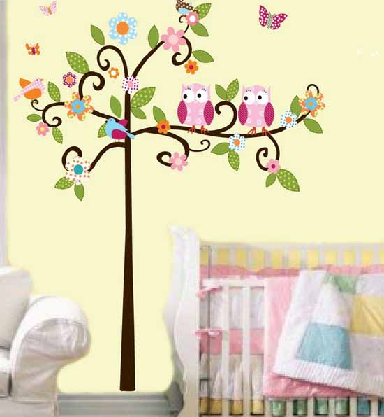 wall decoration theme modern kids wall decor pleasing decoration ideas birds decorating theme  kids room GBIYQPJ