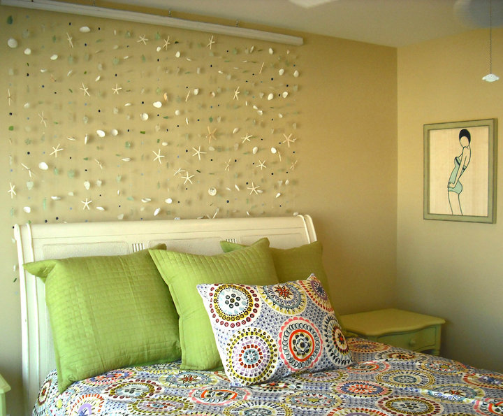 wall decoration theme seaside shells beach theme wall art sea starfish nautical beads glass  hanging DHAHDDY
