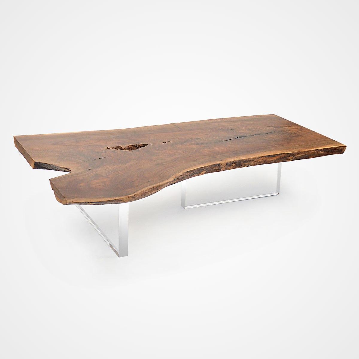 walnut coffee tables live edge claro walnut coffee table - acrylic base - 002 - rotsen JDWWNPP