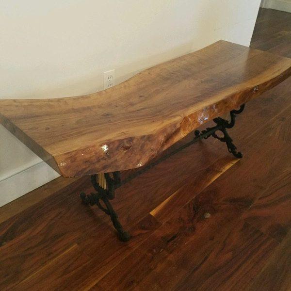 walnut coffee tables live edge english walnut coffee table with ornamental iron legs. EQXAHUJ