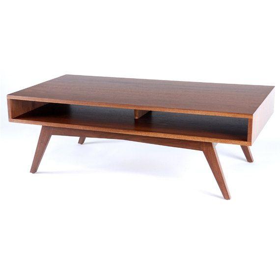 walnut coffee tables mid century modern walnut coffee table - $610.00, via etsy - made from FGARXHT