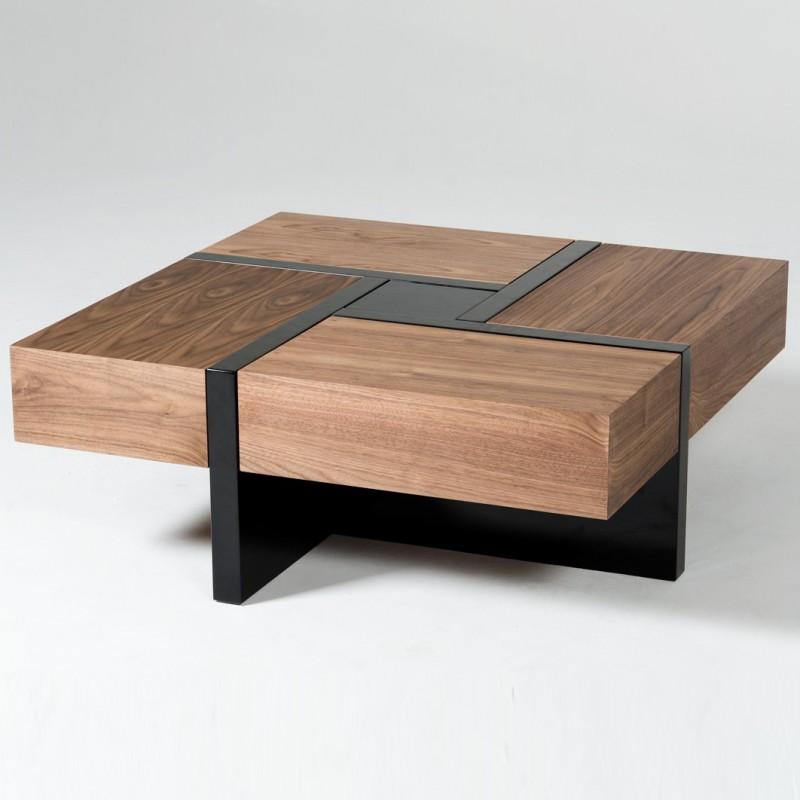 walnut coffee tables modern walnut coffee table with drawers alezio ... QYUXQKR