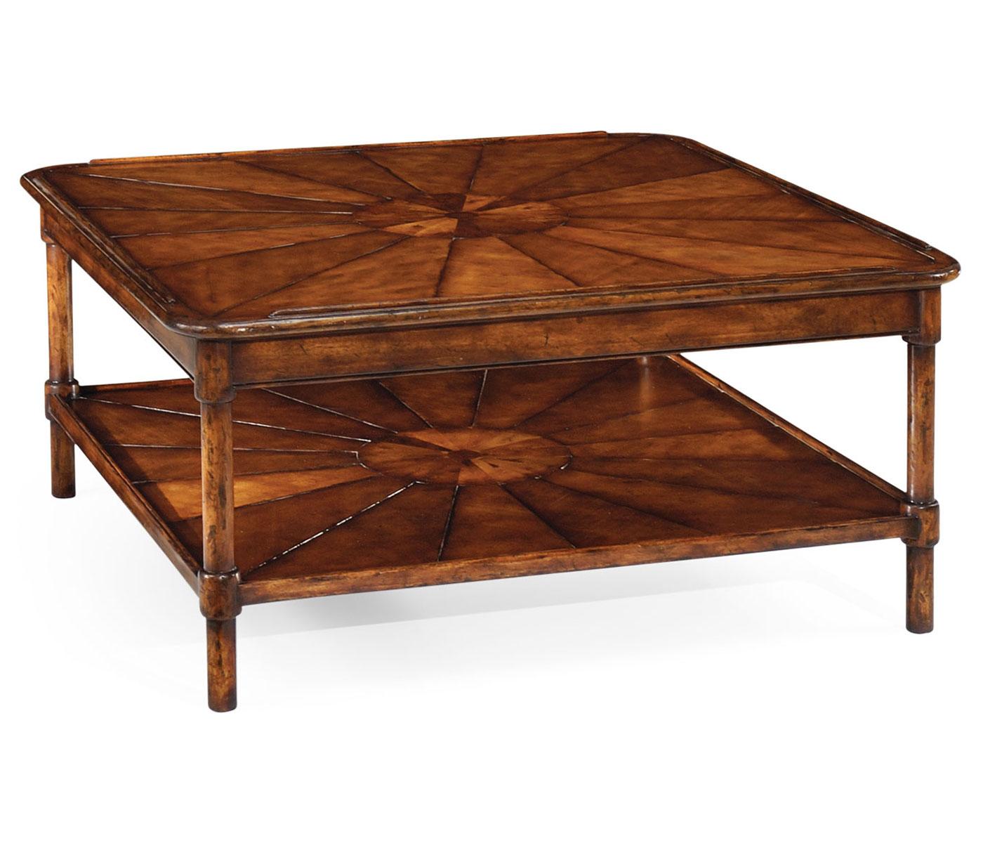 walnut coffee tables square rustic walnut coffee table BPTUQDK
