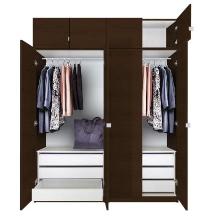 Wardrobe Closet 86 inch tall wardrobe cabinet package MSHEDCJ