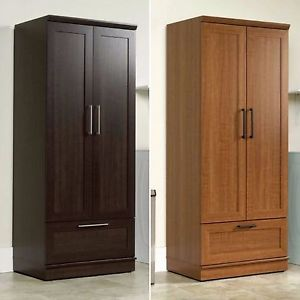 Wardrobe Closet image is loading wardrobe-closet-storage-armoire-tall-bedroom-furniture- cabinet- XZNSLBR