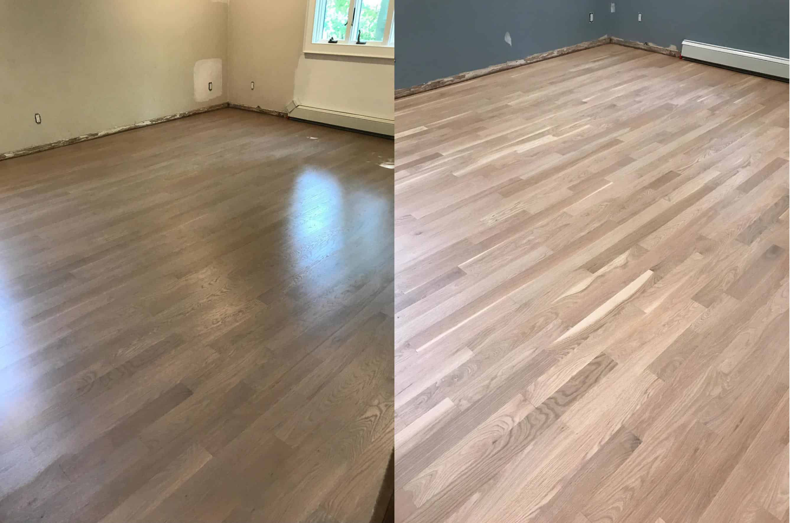 white oak flooring the master bedroom had the biggest transformation. it originally looked  like there FHVHBDN