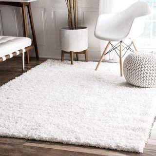 white rugs nuloom alexa u0027my soft and plushu0027 shag rug (8u0027 x 10u0027) DMXYLCV