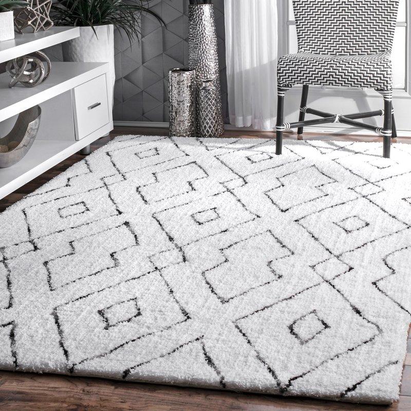 white rugs peraza hand-tufted white area rug RRVEITT