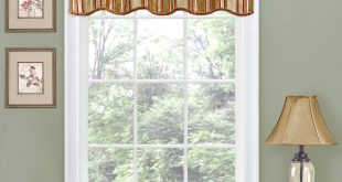 Window valances traditions by waverly stripe ensemble scalloped window valance - walmart.com UITMKKU