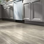 Stepping on wood tile flooring