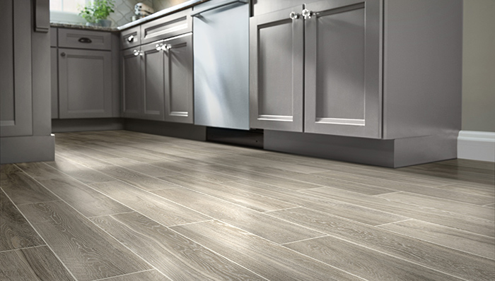 wood tile flooring imitates wood in planks with light, dark or distressed KIJLSQW
