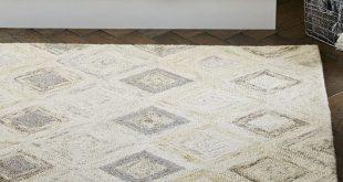 wool rug modern prism wool rug - soot   west elm OYRFAEH