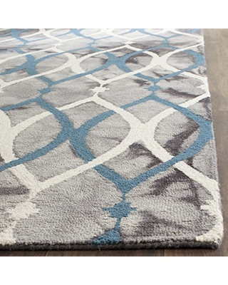 wool rug modern safavieh dip dye collection ddy534j handmade modern geometric watercolor  grey and ivory TNDYCMQ