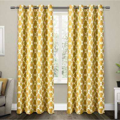 Yellow Curtains gates sundress yellow sateen blackout thermal grommet top window curtain MXOIRJO