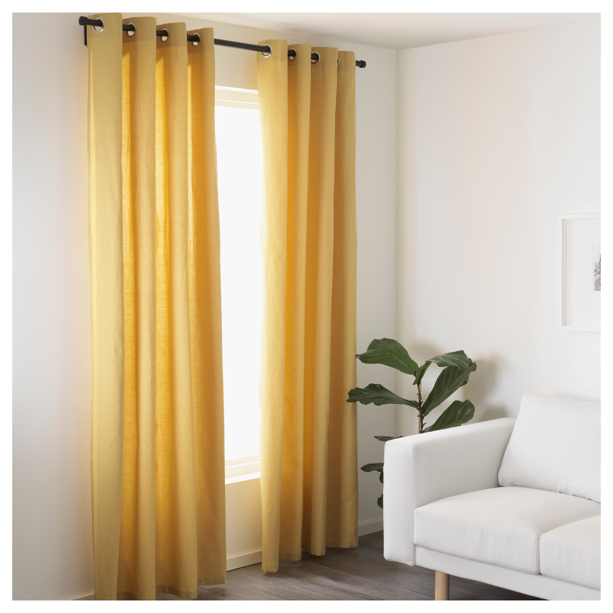 Yellow Curtains ikea mariam curtains, 1 pair BSXRAXF