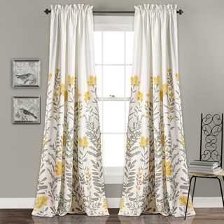Yellow Curtains maison rouge villon room darkening curtain panel pair APPGHMB