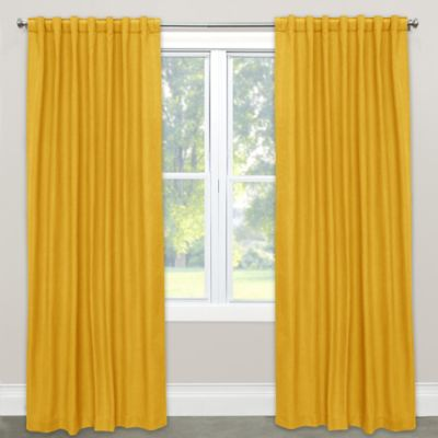 Yellow Curtains skyline furniture solid 63-inch rod pocket room darkening window curtain  panel in WEUUFZO