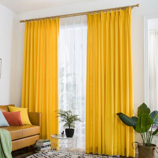 Yellow Curtains vibrant lemon yellow curtains polyeaster cotton UWVZRCG