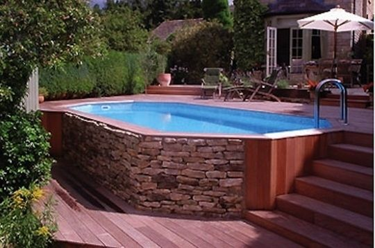 above ground pools that look like in ground above ground pool much cheaper just make it look u0027built inu0027. - click ICGJAES