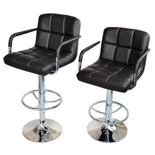 adjustable bar stools with backs and arms adjustable height swivel bar stool (set of 2) IQUXTFO